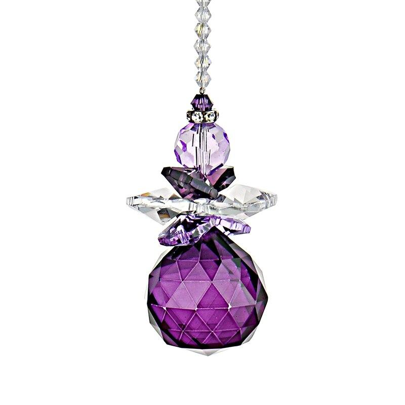 H&D Handmade Purple Hanging Window Crystal 30mm Pendulum Ball Rainbow Suncatcher Feng Shui Gifts Home Wedding DIY Ornaments