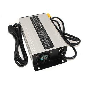 Image 2 - 37.8V 18A Charger 33.3V Li ion Battery Smart Charger Used for 9S 33.3V Lithium Battery Input 220V Aluminum case