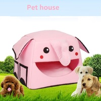 Cute elephant Cartoon Pet House Comfortable dog bed puppy soft cat dog sleeping nest 3 color kennel pet Fashion sofa warming bed