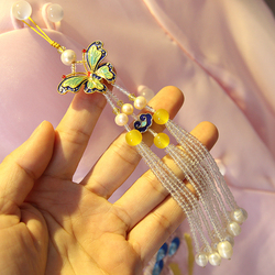 [Papilio] handmade Chinese ancient style women's clothing cheongsam pearl fringed pressure pendant accessories