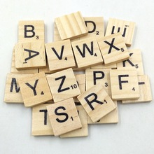 100Pcs/set Wooden Tiles with Letters or Numbers