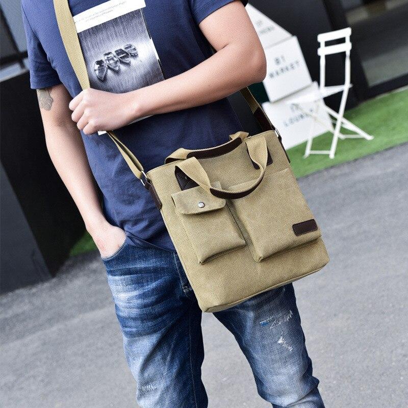 b9df1b89114f FANKE POLO Fashion Business Handbags Canvas Casual Zipper Messenger Bags  Male Vintage High Quality Crossbody Bag Travel Bags-in Crossbody Bags from  Luggage ...