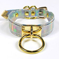 Cool Designed Hoop Your Heart Gold 100% Handmade Silver Holographic Choker Punk Gothic Layer O-Ring Necklace