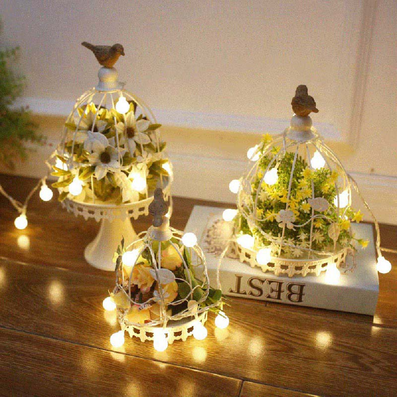 Battery Operated Outdoor String Lights Globe: Bedroom Wedding 50 Lights LED Globe String Lights Battery