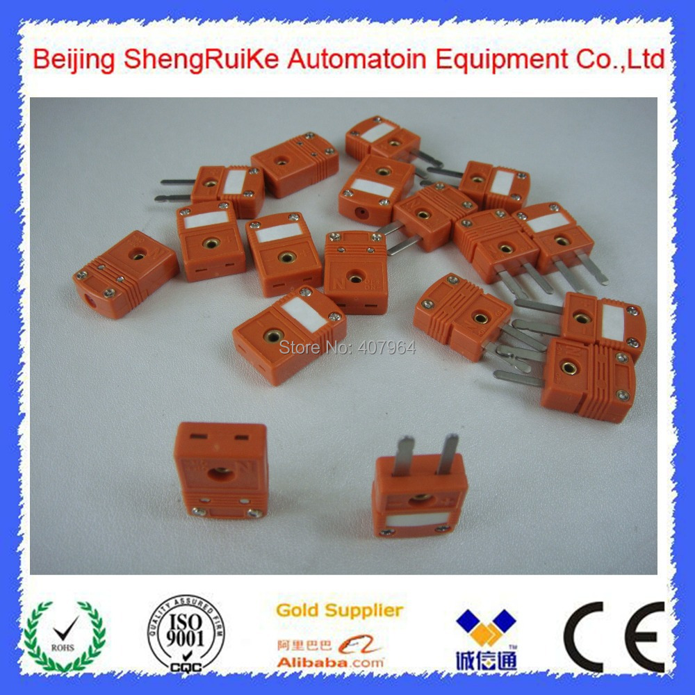 medium resolution of mini n thermocouple connector orange color flat pin male and female similar to omega in instrument parts accessories from tools on aliexpress com