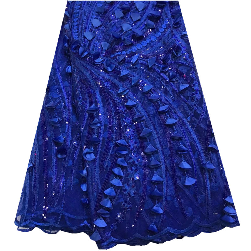 Fashion African Lace Fabric High Quality African 3D Lace Fabric With Sequins For Nigerian Wedding Dress French Lace Fabric F925-in Lace from Home & Garden    1