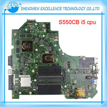 for ASUS S550CB Laptop Motherboard with I5-3317u Non-integrated GT740M S550CB S550CM mainboard 100% Tested&Free Shipping