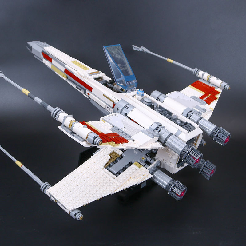 05039 Star Model Wars UCS Rebel Red Five X-wing Starfighter Wing 10240 Building Blocks Bricks Toys Children Gifts ZXZ 1586pcs chic mid waist button design ripped denim shorts for women