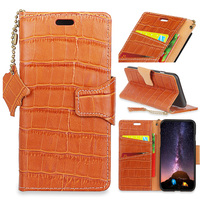 For iPhone 7 Luxury Crocodile Genuine Leather Case For Apple iPhone 8 Wallet Case Magnet Flip Cover with Hand Strap