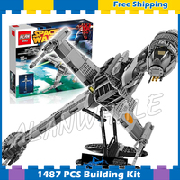 1487pcs Space Wars Starfighter B Wing Fighter 05045 Highly Detailed Model Building Blocks Gifts Sets Games