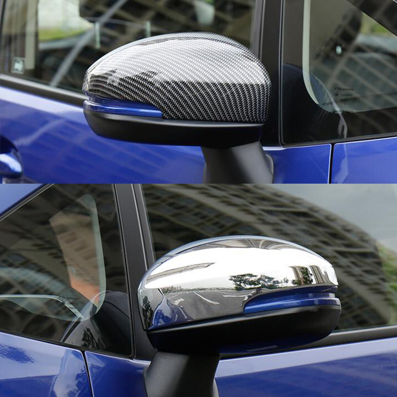 For Honda FIT <font><b>JAZZ</b></font> <font><b>GK5</b></font> 2014 2015 2016 2017 ABS Chrome/Carbon fibre Car rearview mirror frame cover trim car styling accessories image