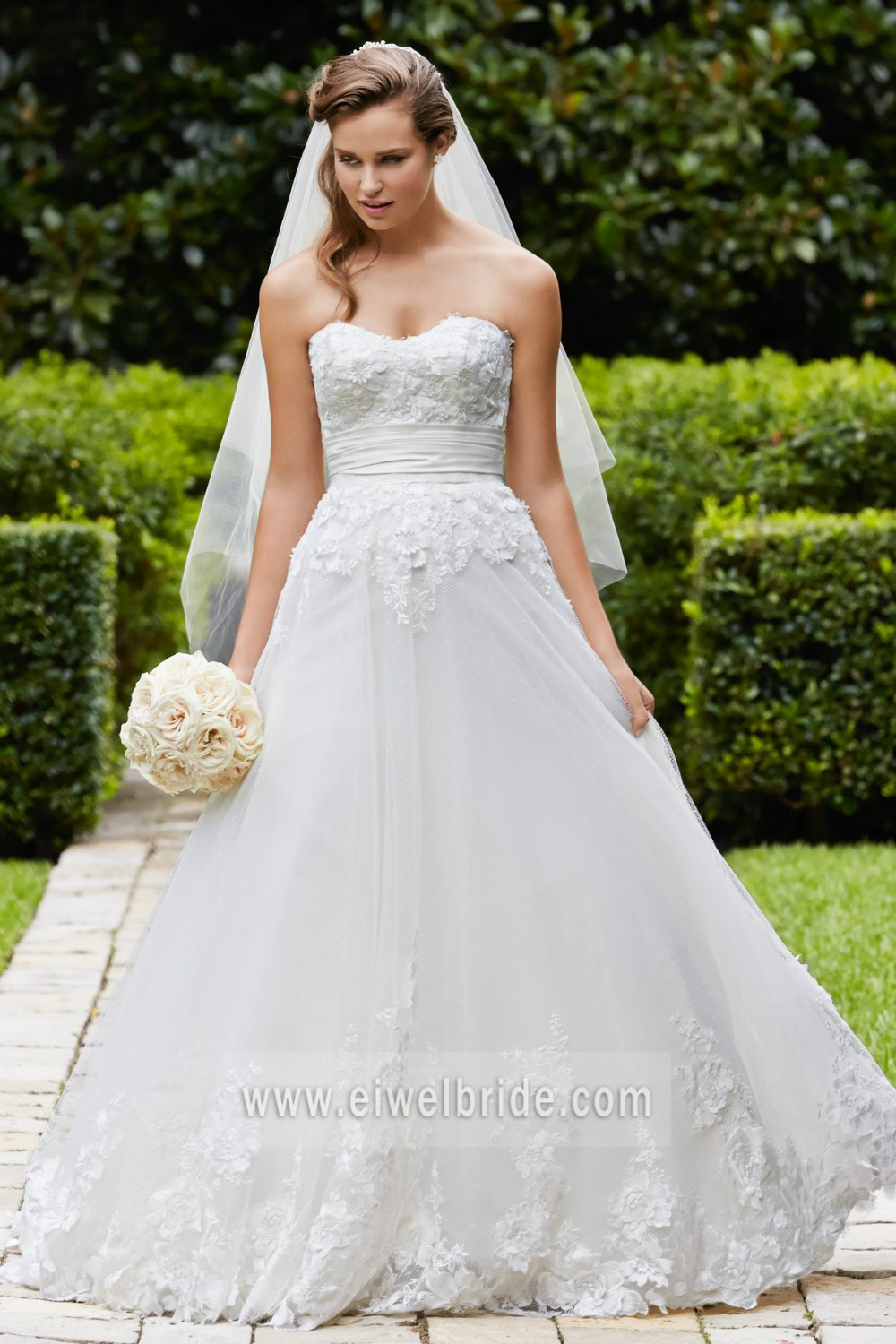 Elegant A Line Sweetheart Appliqued Tulle Wedding Dress Philippines ...