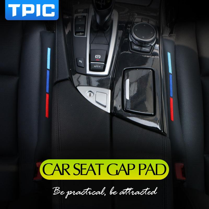 2pcs Faux Leather Car Seat Gap Pad Fillers Spacer Filler