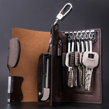 New Arrival Mens Genuine Leather Key Wallet Cow Hide Car Case Leathe Fashion Women House Keeper Holders Free Shipping