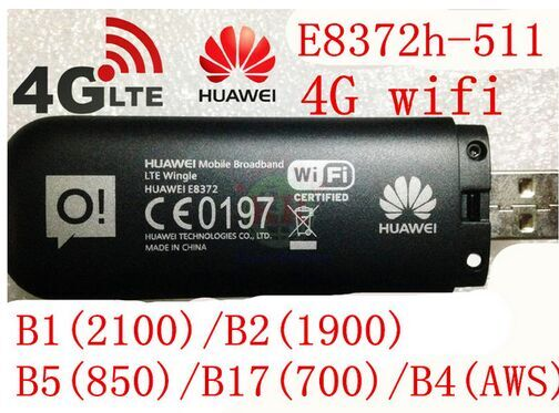 Unlocked Huawei E8372 150Mbps Modem E8372-511 4G Wifi router 4G LTE Wifi Modem LTE band1 ...