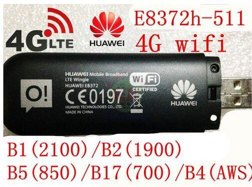 Unlocked Huawei E8372 150Mbps Modem E8372-511 4G Wifi router 4G LTE Wifi Modem LTE band1/2/4/5/17, PK E8278 w800 e5372 e3276 ...