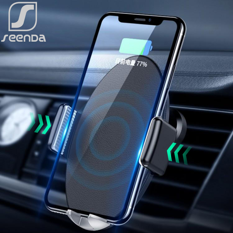SeenDa Intelligent Wireless Automatic Sensor Car Phone Holder and Charger for iPhone Samsung Huawei Xiaomi Fast Car Qi ChargerSeenDa Intelligent Wireless Automatic Sensor Car Phone Holder and Charger for iPhone Samsung Huawei Xiaomi Fast Car Qi Charger