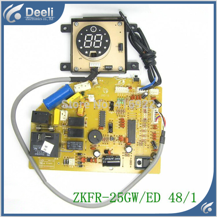 95% new Original for air conditioning Computer board ZKFR-25GW/ED 48/1 PC board display board 2pcs/set