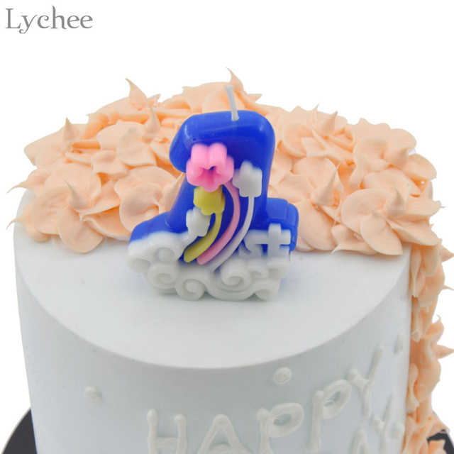 Lychee 1st Birthday Cake Candles Toppers Baby Shower Party Supplies Happy Decoration