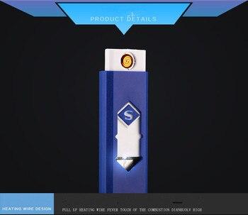 Creatieve Kleine Oplaadbare Usb Winddicht Vlamloze Elektrische Elektronische Opladen Sigarettenaansteker Rookloze Super Aanstekers Man