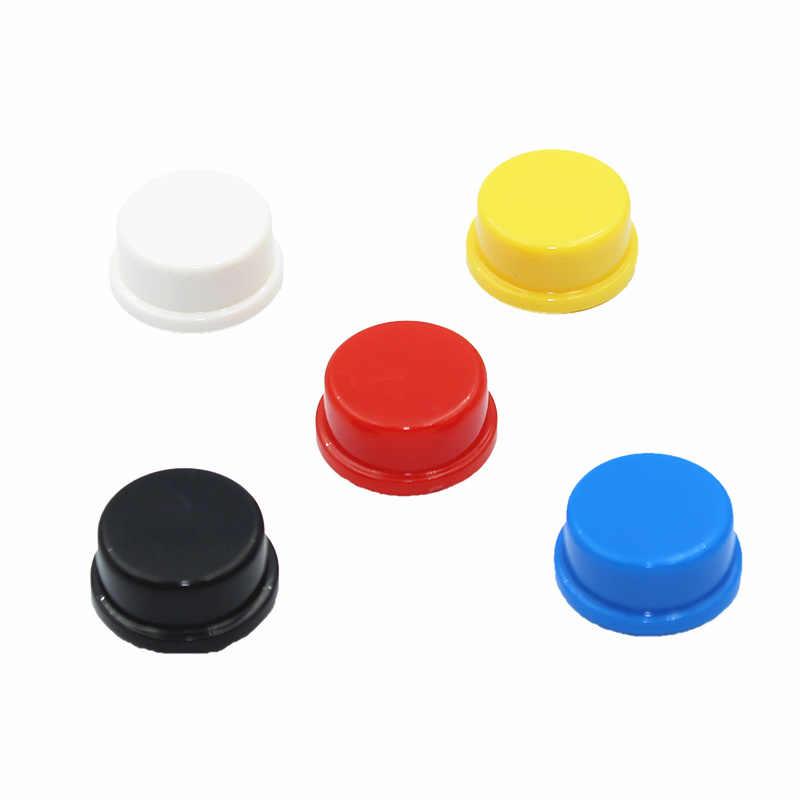 Interruptor de botón táctil inteligente electrónico momentáneo 12*12*7,3 MM Micro interruptor botón + 5 colores tacto tapa