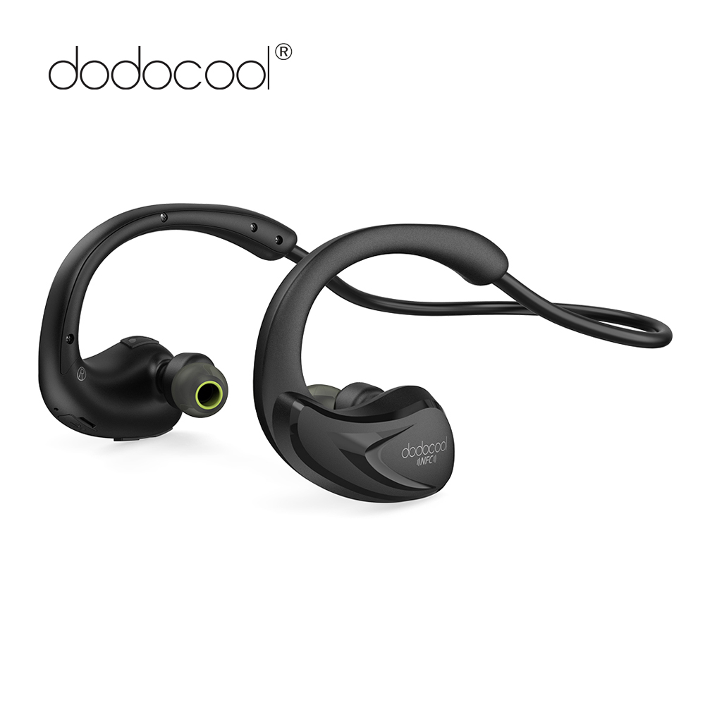dodocool Bluetooth Headphone Stereo Bluetooth Earphone with Mic CVC6.0 Noise Cancellation IPX4 Sweat Resistant Bluetooth Headset universal wireless bluetooth 4 0 edr headset headphone with noise cancellation handsfree stereo a2dp earphone for iphone samsung