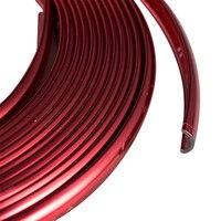 8 M Pegatina Llanta Cromo Reflectante Rojo Brillante PVC Tira Línea de Neumáticos Guardia Protector de Borde Borde Hub Decorater Etiqueta Universal