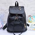 Черный Классический-Новые тенденции моды женщин рюкзаки Корейский студент мешок PU плеча сумки бесплатная доставка подарок для девочек