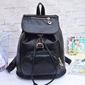 Negro Clásico de Nueva tendencia de la moda de las mujeres mochilas estudiante Coreano regalo para las muchachas bolsa de hombro de LA PU empaqueta el envío libre