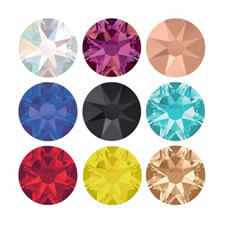 YANRUO 2088NoHF 8 Big 8 petit Non Hotfix strass pierres et cristaux ongles pour vêtements téléphone autocollants robe de mariée