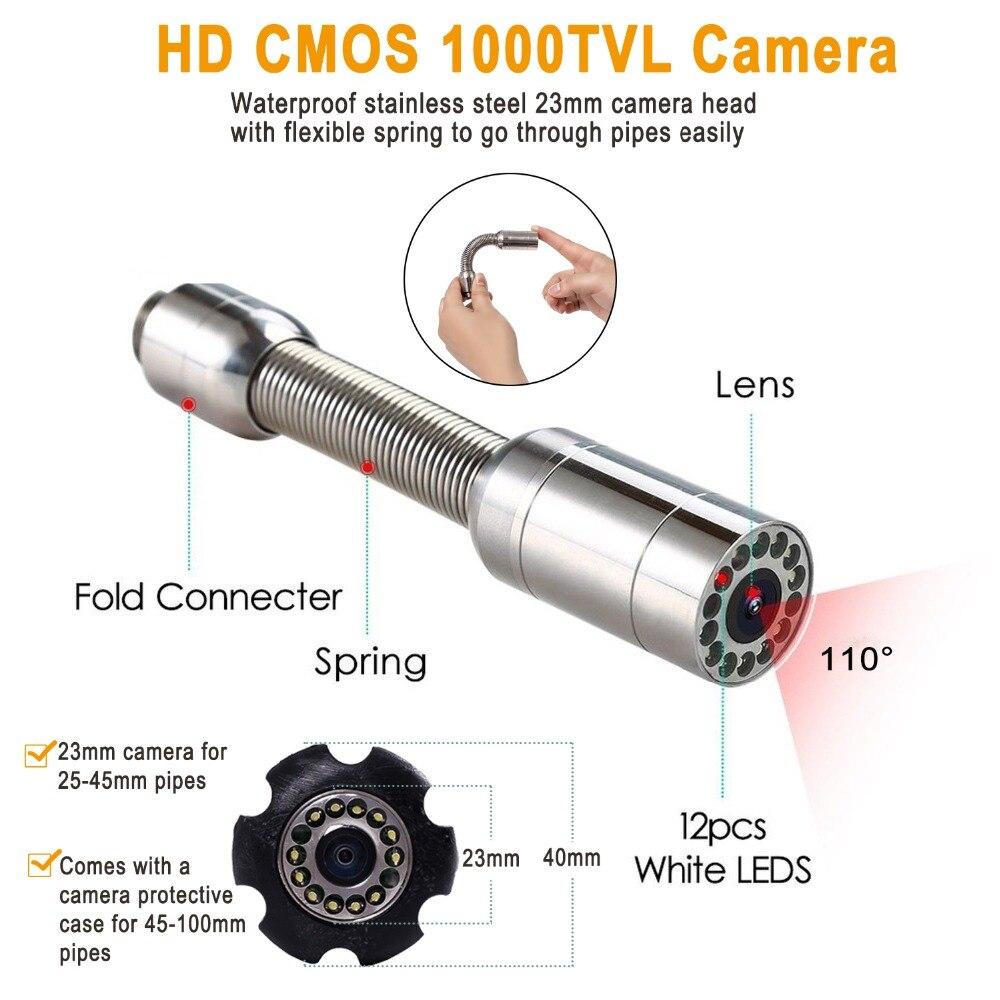 """Image 3 - Syanspan 9 """"Беспроводной Wi Fi 20/50/100 м внутритрубный инспекционный прибор видео Камера, слива канализационных труб промышленный эндоскоп Поддержка Android/IOS-in Камеры видеонаблюдения from Безопасность и защита"""
