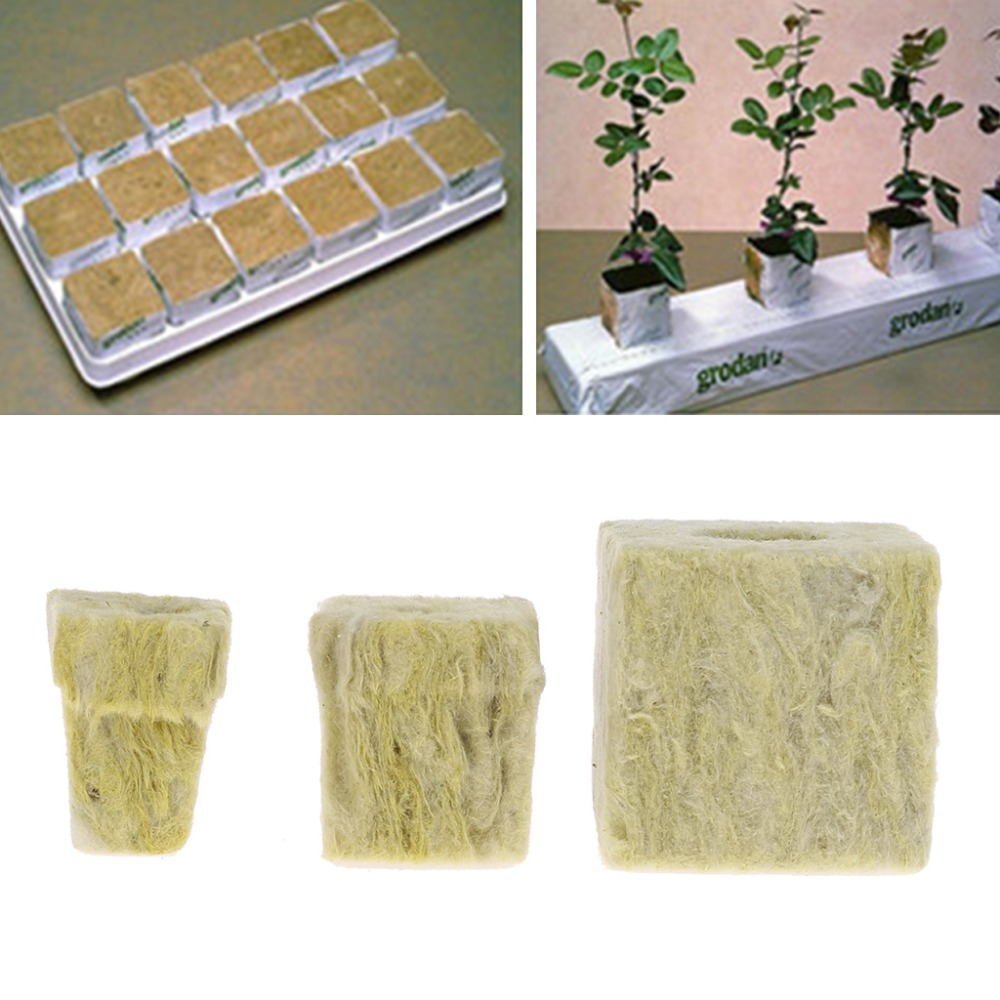 Eco-friendly Rockwool Cube Hydroponic Grow Media Soilless Cultivation Planting Compress Base 5pcs/set