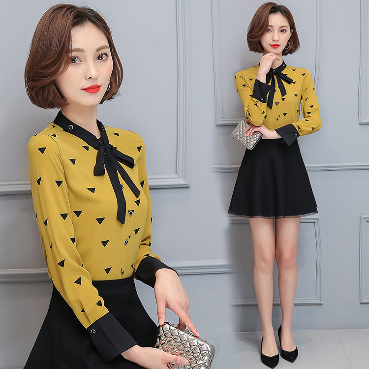MAINROLES font b Blouse b font font b Women b font New Stand Geometric Pattern plus