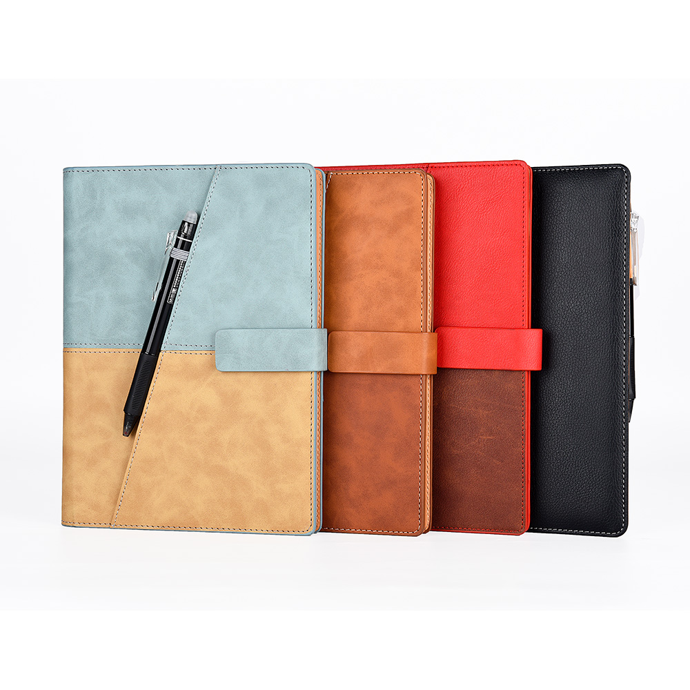 Leather Wirebound Reusable Cloud Storage Smart Notebook 1