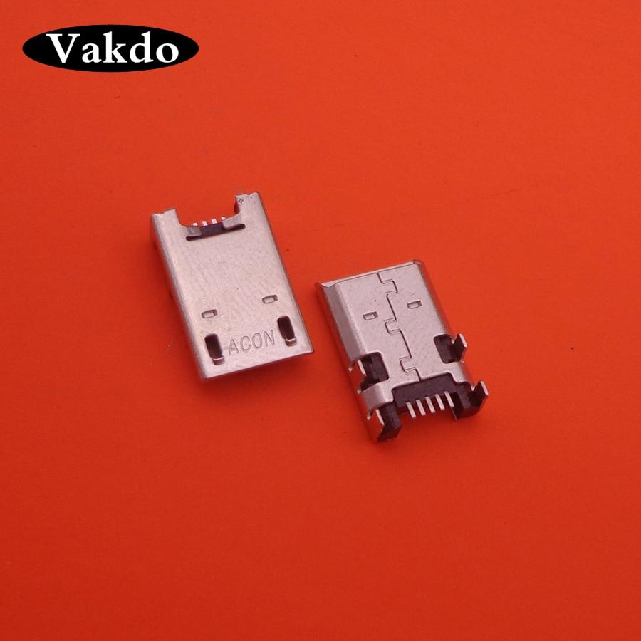 50 Uds Micro USB Jack para Asus Memo Pad FHD 10 K001 K013 102A ME301T ME302C ME372 T ME180 ME102 DC conector de puerto de carga