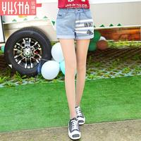 2017 Spring And Summer New Women S Cotton Denim Loose High Waist Shorts