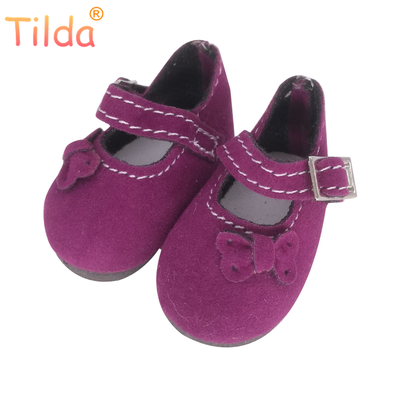 4.5cm Tilda BJD 1/6 Doll Shoes for Handmade Dolls,Lovely Mini Puppet Dolls Toy Boots for BJD,Doll Sneakers Accessories One Pair exclusive shining boots for bjd 1 3 sd17 uncle ssdf id ip eid big foot doll shoes sm7