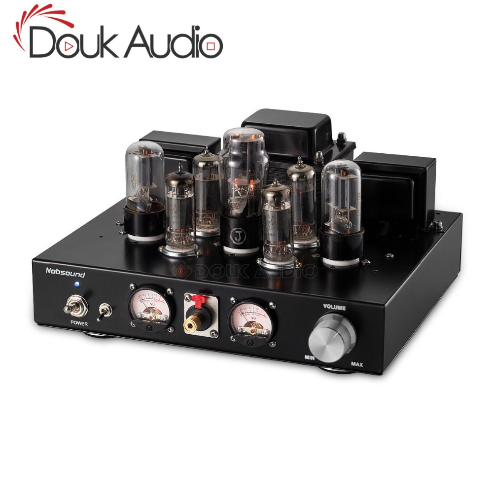 2018 New Nobsound Handmade Stereo Single ended Class A Headphone Amp HiFi 6P1 Vacuum Tube Integrated