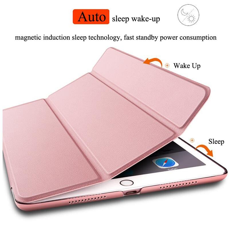 For iPad Mini 1 2 3 Silicone Case Cover For iPad Mini 2 Original Smart Wake Sleep PU Leather Fundas For iPad Mini 1 2 3 Coque