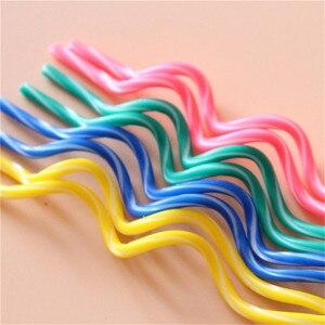 Image 3 - Bougies à gâteau courbe colorées 8 pièces/lot