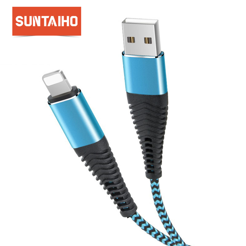 Suntaho USB Cable For iPhone Charger XR XS X 8 7 6 6s Plus Mobile Phone Data Cable for iPhone 5 5s SE Cable for lighting Cable