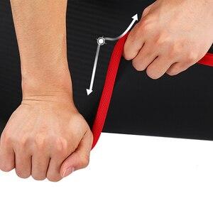 Image 3 - 10MM ekstra kalın yüksek kaliteli NRB sigara kaymaz Yoga paspaslar Fitness çevre tatsız Pilates Gym egzersiz pedleri bandaj ile