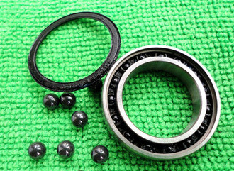 <font><b>6202</b></font> <font><b>2RS</b></font> Size 15x35x11 Stainless Steel + Ceramic Ball Hybrid Bearing image