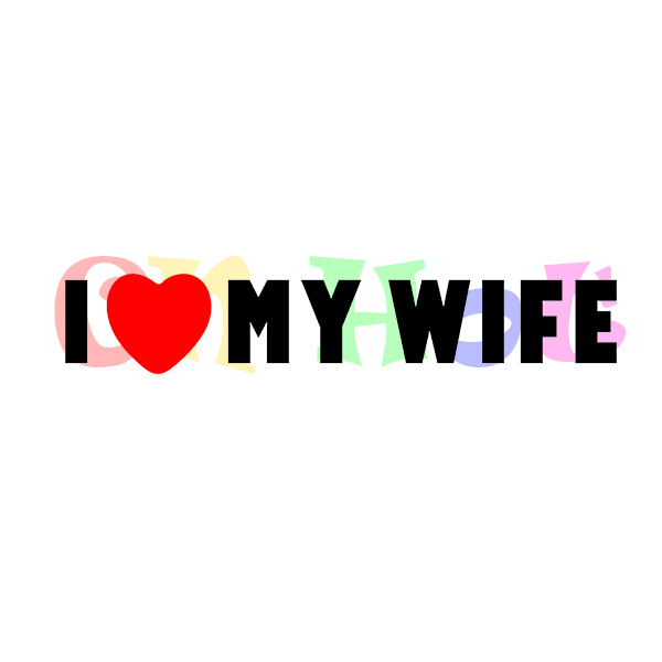 I love my wife mom family married funny car vinyl bumper sticker window decal in car stickers from automobiles motorcycles on aliexpress com alibaba