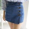 Azul Pantalones Cortos de Mezclilla Faldas Pantalones Vaqueros Verano Pantalones Cortos de Cintura Alta Mujeres Sexy Delgado de La Cadera Corta Femme Omighty Tanga Pantalones Cortos de Mezclilla