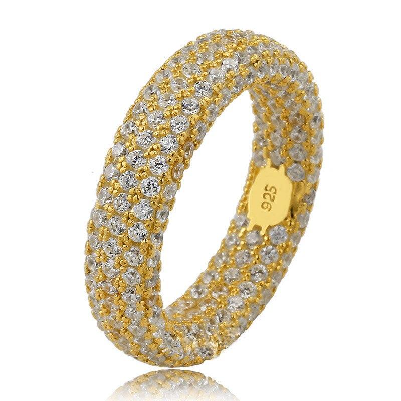 Porte-bonheur Sonny authentique 925 bague en argent Sterling pleine CZ pavé anneaux couleur or/Rhodium mâle femelle Anel Anillo Bijoux