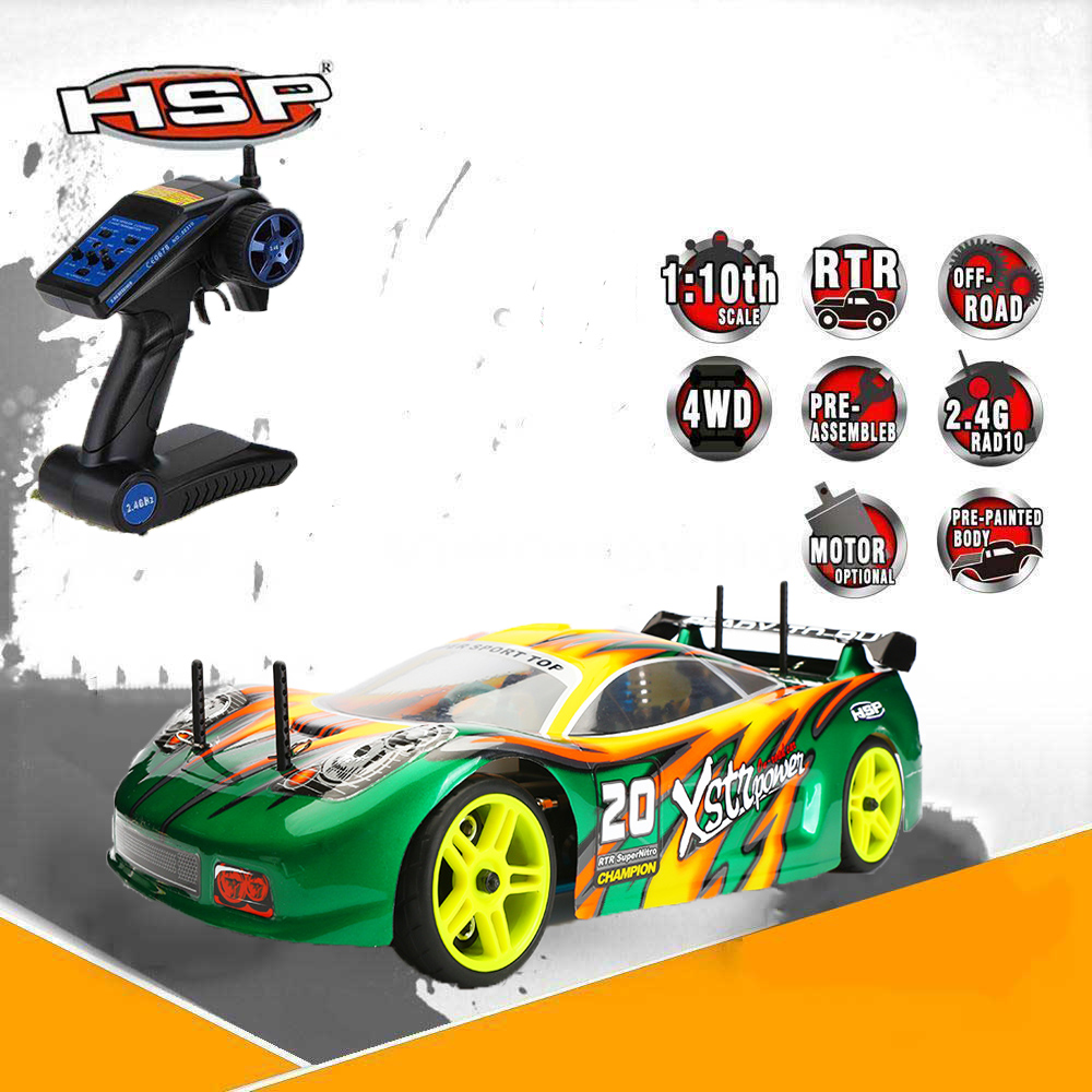 Original HSP 94122 Drift RC Racing Car 1:10 Scale Models 4wd Nitro Gas Power On Road Touring Hobby Remote Control Car 1 pair 02168 hsp rc 1 10 model 4wd on road car off road truck wheel axle 94122 94166