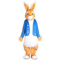 Питер костюмы талисмана кролика Рождество унисекс Костюм Маскот нарядное платье для взрослых полная экипировка Hallween Пурим Вечерние