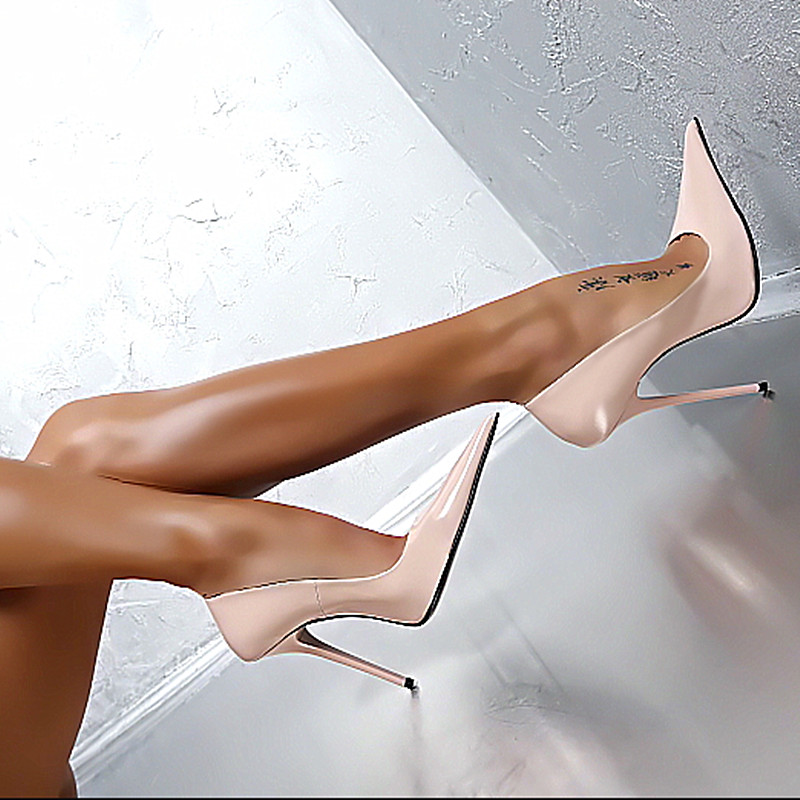 2019 Classic Style Solid Women Gladiator Pumps Pointed Toe Sexy Stilettos Ladies Party Shoes Shallow Woman Spring Slip On Pumps in Women 39 s Pumps from Shoes
