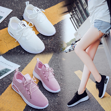 Liren 2019 Summer Casual Women Sneakers Shoes Off White Shoe Air Mesh Comfortable Breathable Thick Bottom Lady Shoes Size 35-40 timeswood flat women shoe comfortable air mesh non slip female shoes breathable bowknot lightweight casual handmade size 35 40